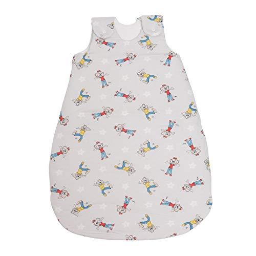 Babyschlafsack ED & EDDA | ganzjahres Schlafsack schadstoffgeprüft & pflegeleicht | einzigartiges Design | Schlummersack aus 100% Baumwolle | versch. Größen & Farben (Sterne grau, 50/56)