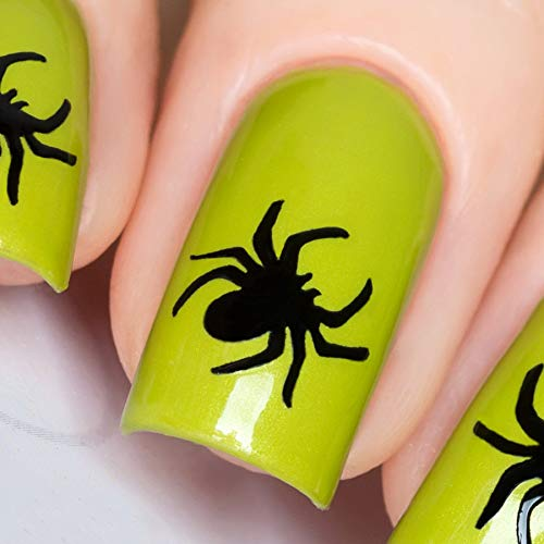 Whats Up Nails - Spider Vinyl Stencils for Halloween Nail Art Design (1 Sheet, 20 Stencils)