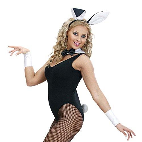 NET TOYS Bunny Set Hasenkostüm 4 TLG. Hase Ohren Halsband Schwanz Manschetten Sexy Hasen Kostüm Playboy Kostümset Damen Sexy Häschen Verkleidung Karnevalskostüme Tiere