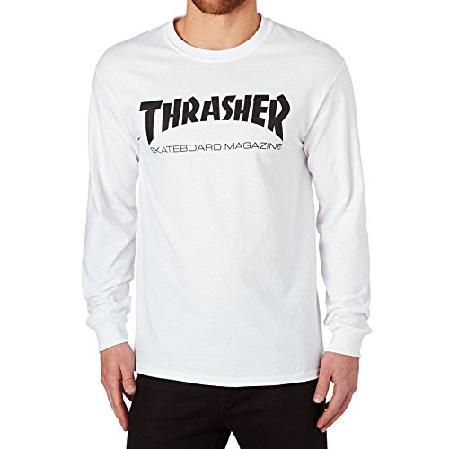 Thrasher Skatemag Long Sleeve T-Shirt à Manches Longues Unisexe Adulte XL Blanc