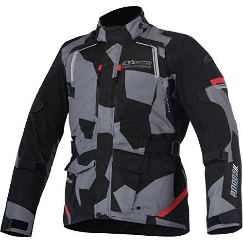 Alpinestars Men's Andes v2 Drystar Motorcycle Jacket, Black/Camo/Red, Medium
