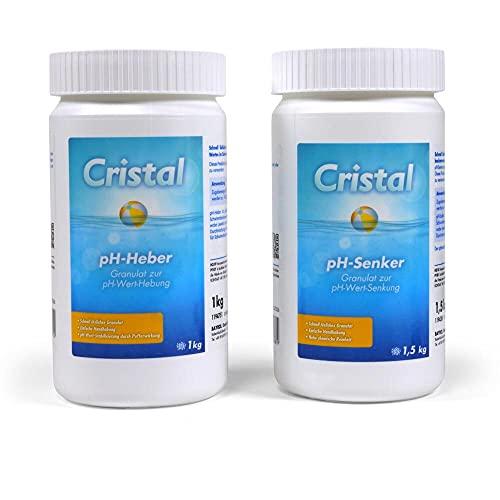Cristal pH - Spar Set - Cristal PH-Heber 1 kg + pH-Senker 1,5 kg