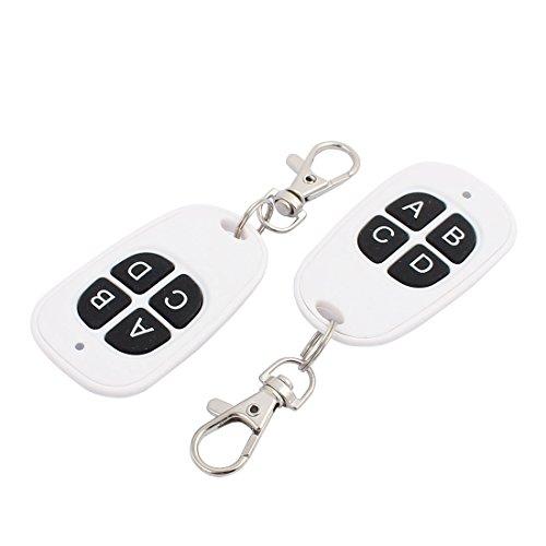 Aexit 2Pcs 433Mhz Wasserdichte weiße drahtlose Fernbedienung 4 Schlüssel für elektrische Tür (ed2f4ef8725867802d893bcfefce5d71)
