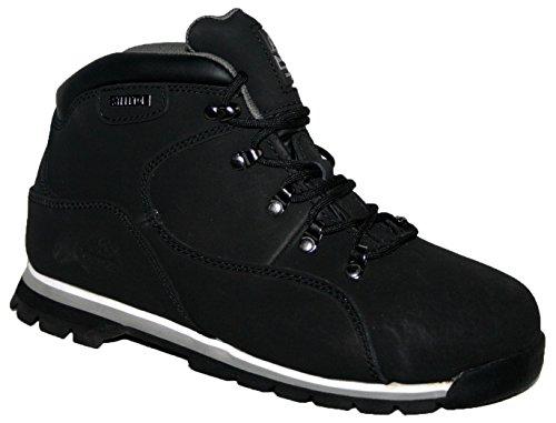 Botas de seguridad para hombre, con punta de acero Groundwork GR77, color Negro, talla 42.5