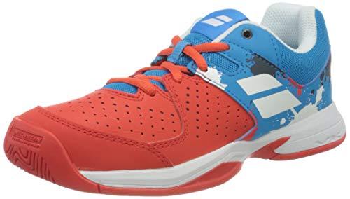 Babolat Jungen Unisex Kinder Pulsion All Court JR Tennisschuhe, Tomato Red/Blue Aster, 33 EU