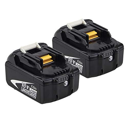 2Packs Upgraded 6.0Ah BL1860B Replacement for Makita 18V Battery Lithium-ion Compatible with Makita 18 Volt Battery BL1860 BL1850 BL1845 BL1840 BL1830 BL1820 BL1815 LXT400 194204-1