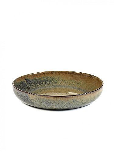 Serax - Pastateller - Teller tief - Surface - Steinzeug - Indi Grey L Ø 21cm Höhe 4 cm