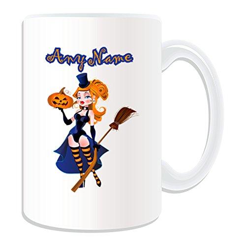 De regalo con mensaje personalizado - tamaño grande Hot bruja en corsé taza de desayuno (diseño de carcasa, blanco) - el nombre/mensaje en tu taza diseño de - Sexy