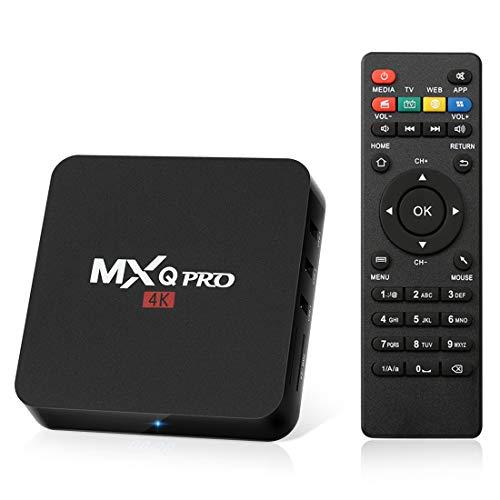 Android 8.1 TV Box 2GB RAM+16GB ROM Quad-Core Box WiFi 2.4G / 4K / 3D HD/H.265 /LAN 100 Smart TV Box
