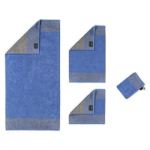 Cawö Home Handtücher Luxury Home Two-Tone 590 blau - 17 Gästetuch 30x50 cm