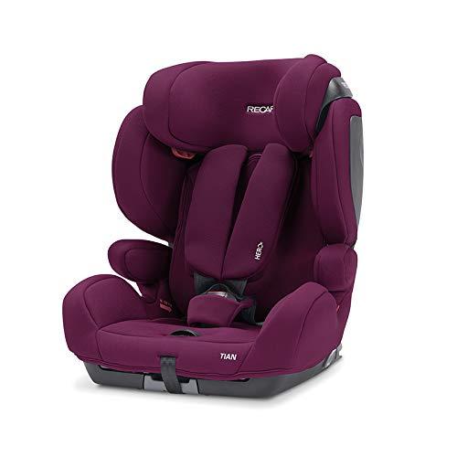 Recaro Kids, Kindersitz Tian, Autokindersitz (9-36 kg), Komfort und Sicherheit, Universaleinbau, Gruppe 1-2-3, Isofix-Verbindungen Gruppe 2-3 (optional), Verstellbar, Core Very Berry