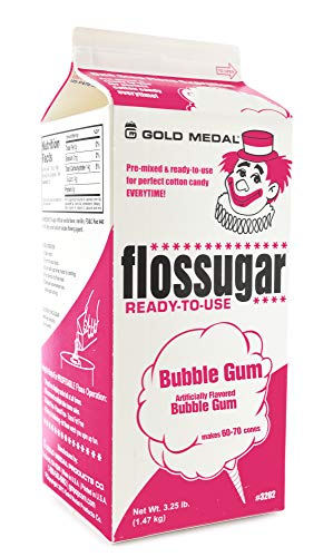 Gold Medal 3208 Bubble Gum Flossugar, 3.25 lb Carton