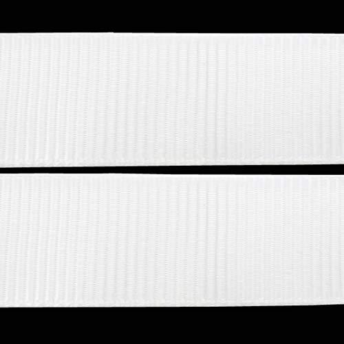 Perlin - 20 Meter Ripsband Weiß 10mm Webband zum nähen Band Borte Scrapbooking Zierband Besatzband Stoffband Webbänder Dekoband Schmuckband Schleifenband C239 x2
