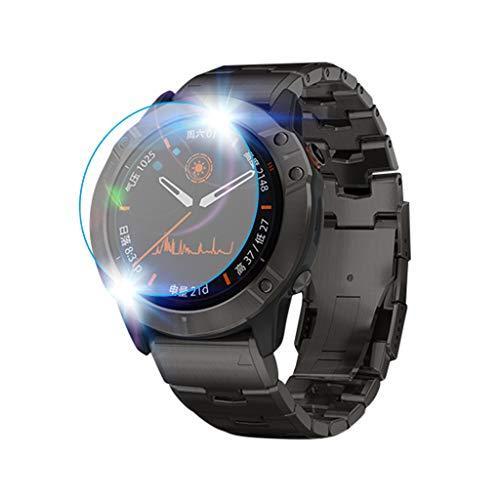 Shan-S (5-Pack Tempered Glass Screen Protector for Garmin Fenix 6X Pro,[9H Hardness] [Anti-Fingerprint] [Bubble Free] Clear Film Tempered Glass Screen Protector for Garmin Fenix 6X Pro Smartwatch