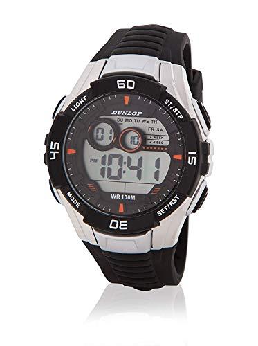 Dunlop Unisex Erwachsene Digital Quarz Uhr mit Gummi Armband DUN233G01