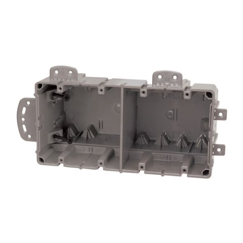 Madison Electric Products MSBMMT4G 4 Gang Multi Mount Device Box with Depth Adjustable, Heavy Duty 42lb