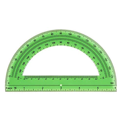 Office Depot Semicircular 6in. Protractor, Clear, 973D OD8 Photo #3