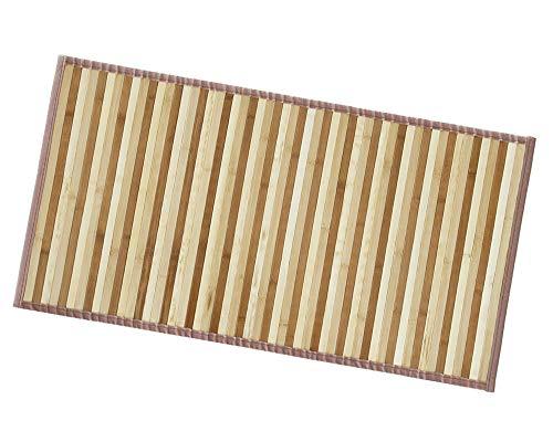 ARREDIAMOINSIEME-nelweb Tappeto Bamboo Legno Stuoia Cucina Bagno Camera Degradè Varie Misure Passatoia bambù Retro Antiscivolo MOD.Bamboo 50X240 Beige (A)