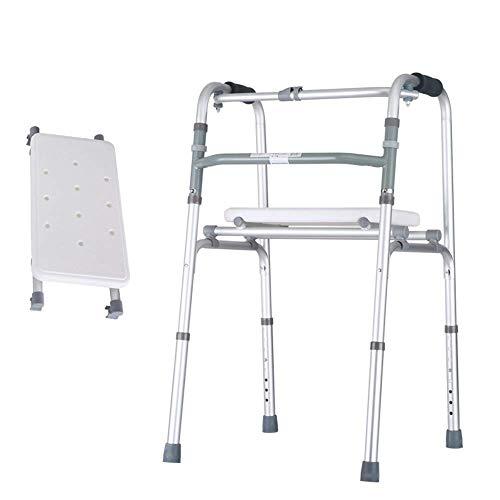 Y DWAYNE Andador de Aluminio Ligero Altura Ajustable Bastidores para Caminar Aleación Auxiliar Andador Bastón Silla de Mimbre