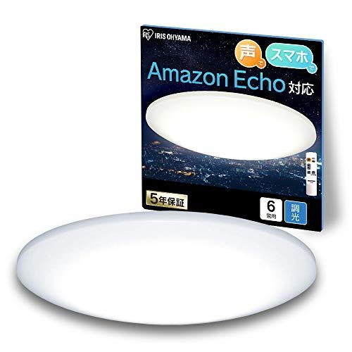 【Amazon Alexa認定 LEDシーリングライト 】アイリスオーヤマ Alexa対応 LED シーリングライト 調光 6畳 CL6D-6.0UAIT 【Amazon Echo/Google Home対応】