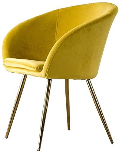 Sedie-Lounge Sedie da pranzo Sedia morbida Nordic Elegante Schienale Poltrone Dorato Gambe In Metallo Soggiorno Divano Sedia Confortevole Sedia Verde