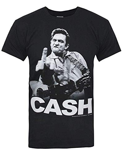 Offiziell Johnny Cash Finger Salutes Herren-T-Shirt (S)