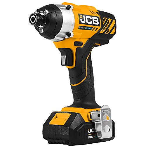 JCB Tools - JCB 20V Impact Drill Driver - Includes 2 x 2.0Ah Battery - 2.4A Charger