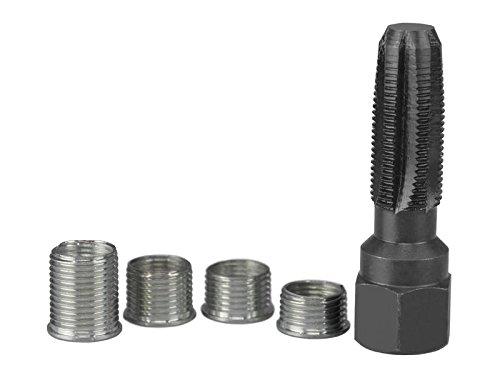 Sägenspezi Zündkerzen-Gewinde Reparatur-Set M14x1,25; Gewindeschneider; Gewindebuchse