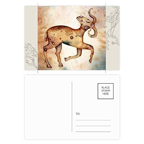DIYthinker maart april Ram sterrenbeeld Zodiac Bloem Postkaart Set Thanks Card Mailing Side 20 stks 5.7 inch x 3.8 inch Multi kleuren