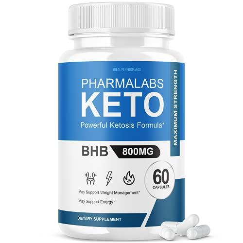 Pharmalab Keto Pills Pharmalabsketo BHB 800mg PhermaLab Advanced Formula Pharma Labs Ketone Supplement (60 Capsules)
