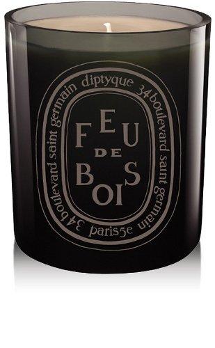 Diptyque Grey Feu de Bois Candle- Red 10.2 oz