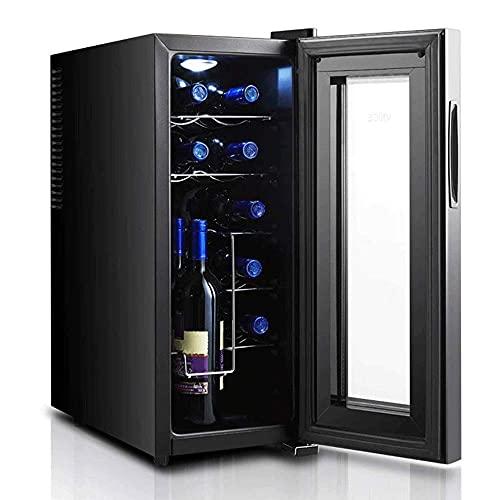 N/Z Inicio Equipos La Vitrina para vinos es pequeña y compacta con Dos Capas de Vidrio Templado El diseño Hueco y Grueso Evita los Rayos UV