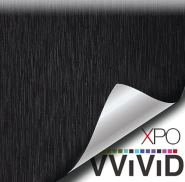 VVIVID New arrival Black Brushed Steel Vinyl Wrap Release Phoenix Mall with Tech Roll Air