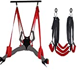 Couple Toys 360 Spinning Indoor S&êx Swing Set for Adült Gāme, Šêx Swing Aerial Yoga Swing Bedroom with Safety Seats for Men Women Couples Maoes