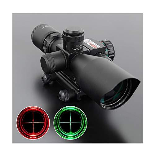 DOTXX Gewehrzielfernrohre 2.5-10X40 Rot Grün Absehen Zielfernrohr für Pistole und Armbrust für Jagd