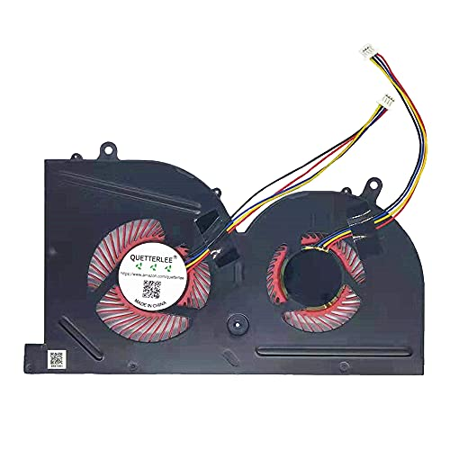 QUETTERLEE Replacement GPU Cooling Fan for MSI GS63 GS63VR GS73 GS73VR GS62 MS-17B1 MS-17B2 MS-16K2 MS-16K3 Stealth Pro BS5005HS-U2L1 Fan