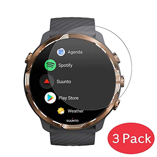 [3 Pack] Synvy Tempered Glass Screen Protector for SUUNTO SUUNTO7 SUUNTO 7 9H Protective Screen Film Protectors Smartwatch Smart Watch 1