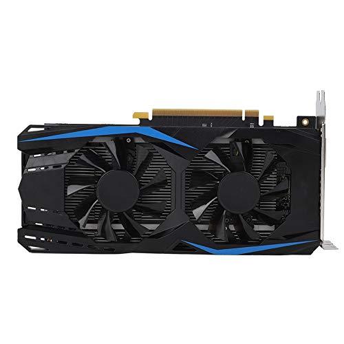 Dpofirs NVIDIA DDR5-Grafikkarte, 2G GDDR5-Grafikkarte mit doppelter Lüfterkühlung Unterstützung HDMI + DVI + DP-Ausgangsschnittstelle für GeForce GTX950