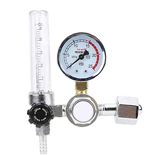 Argon CO2 Medidor de flujo del regulador de presión Gauge 0-25MPa Parts Soldador por Mig Tig Soldadura YAR-88 tabla de descompresión