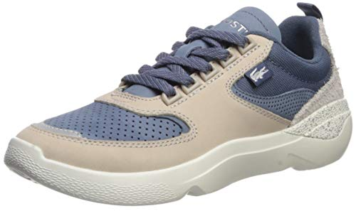 Lacoste Women's Wildcard Sneaker, Dark Blue/Off White, 9 Medium US