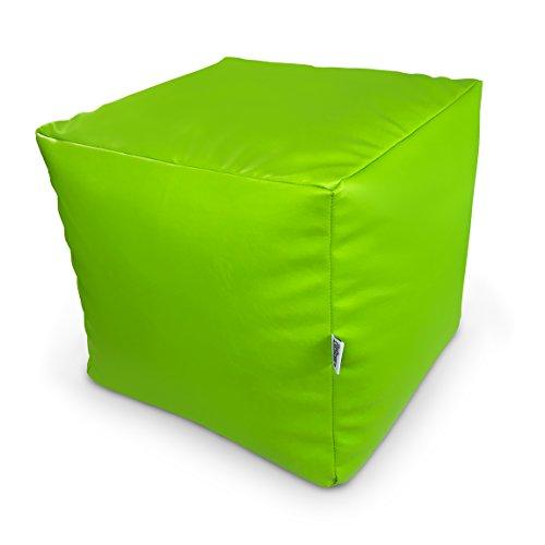 Natalia Spzoo® Sitzwürfel aus Kunstleder zum sitzen Spielen usw. super leicht (Apfelgrün)