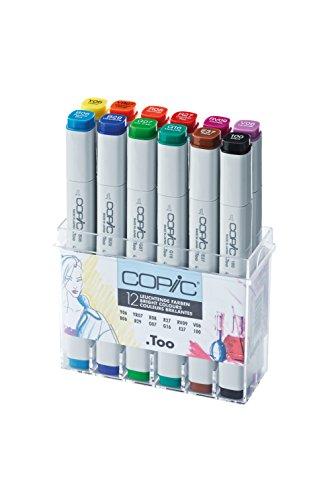 Copic 20075702 - Set di 12 Marcatori, Multicolore