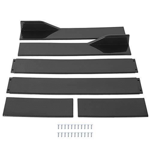 EBTOOLS Estensioni minigonne laterali universali, 6 pezzi Estensioni minigonne laterali stile fibra di carbonio Splitter Accessori per veicoli a labbro Universale(2m)