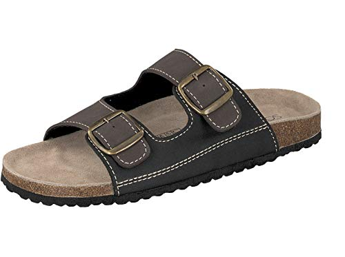 Supersoft Herren 174 001 Pantoletten, Mehrfarbig (Black/Brown 036), 45 EU