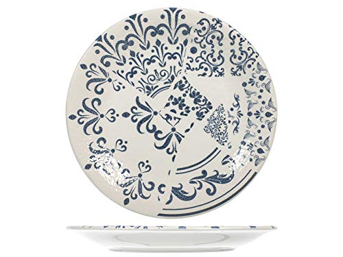 H&H 831638 Milo Teller-Set, 12-teilig, Keramik, 26 cm
