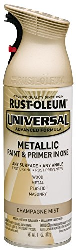 Rust-Oleum 261415 Surface, 11 oz, Champagne Universal Mist Metallic Spray Paint