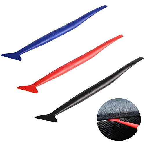 CZF ES 3 Stück Vinyl Wrap Folienrakel, Auto Vinyl Wraps Set, Auto Micro Rakel Set, mit Unterschiedlicher Härte, für Autofolie Tönungsfolie Fensterfolie Werkzeug