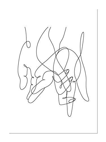 Panorama Póster Arte Lineal 50x70cm - Impreso en Papel 250gr - Póster Pared - Láminas para Enmarcar - Cuadros Decoración Salón - Pósters Decorativos - Cuadros Modernos