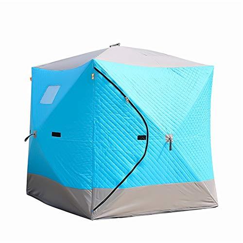 QuRong tent woestijn katoenen tent venster openen voor ventilatie en draagtas plus katoen verdikking ijsvissen huis de jacht om warme en koude tenten te houden tijdens het wandelen in de buitenlucht