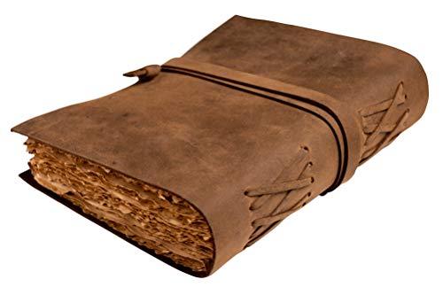 Vintage Leder Notizbuch | Antikes Notizbuch und Tagebuch Leder Einband|Buch der Schatten Notizbuch Leder | Maße 17,75 x 12,70 cm | Geschenke für Männer,Geschenk für Frauen,Tagebuch Mädchen oder Jungen